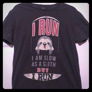 Sloth Running T Shirt